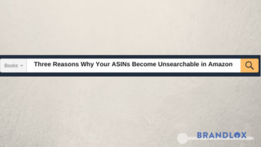 Three Reasons Why Your ASINs Become Unsearchable in Amazon